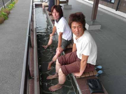 潮見坂の足湯。