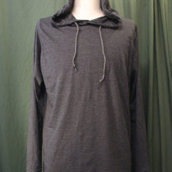 WATERS Clothing Hooded L/S TEE Grey front