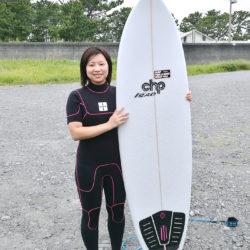 自分のボードで初サーフィン!