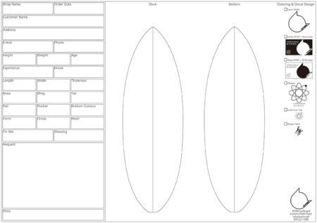ATOM Surfboard オーダーシート