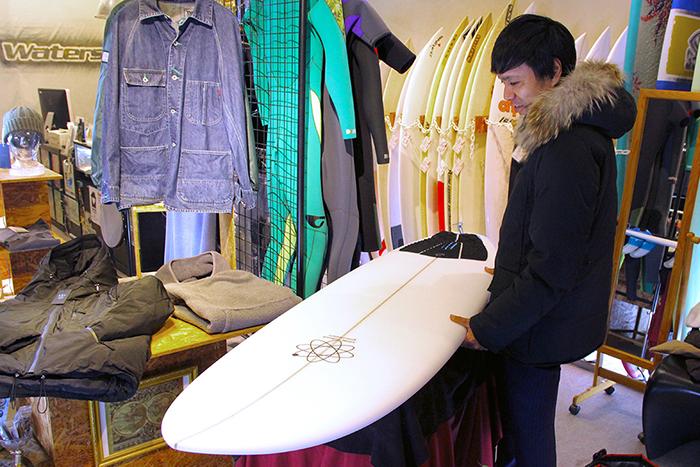 ATOM Surfboard Y.F.D.モデルをオーダーしたAさん