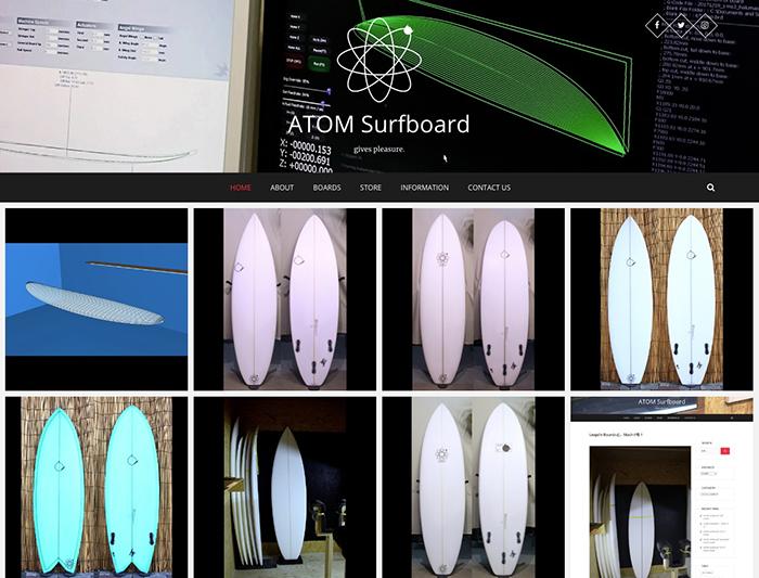 アトムSurfboard公式WEBサイト「ATOM WEB」