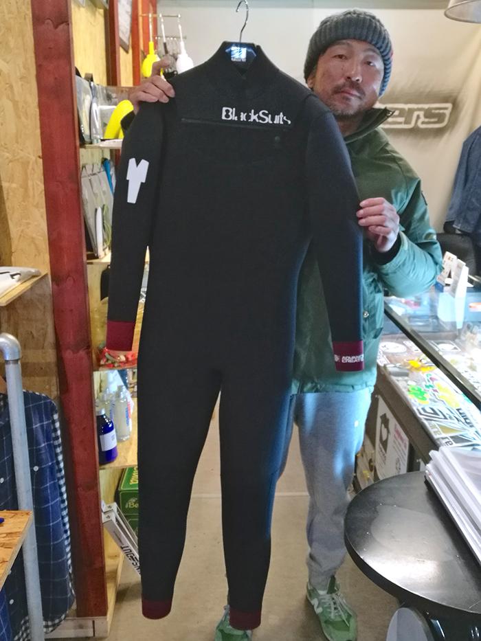 BlackSuits Cuff Design フルスーツをオーダーされたCさん