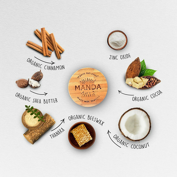 mandaはすべて天然素材、食べても大丈夫!