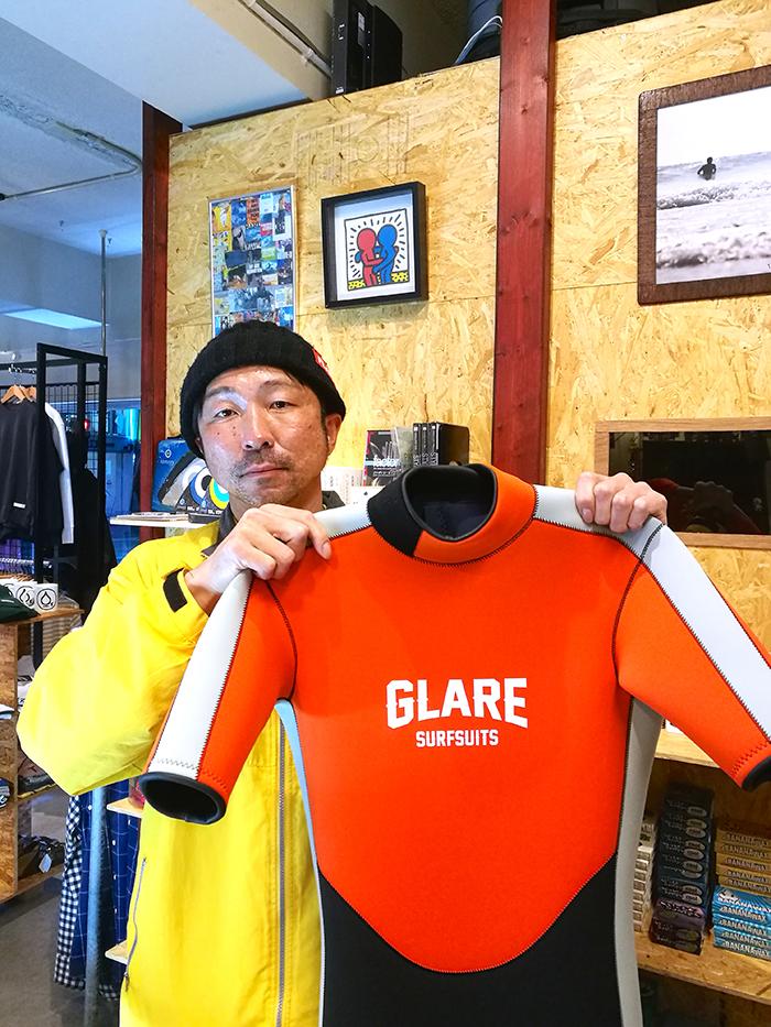 GLAREサーフスーツS-LinerスプリングをオーダーされたCさん