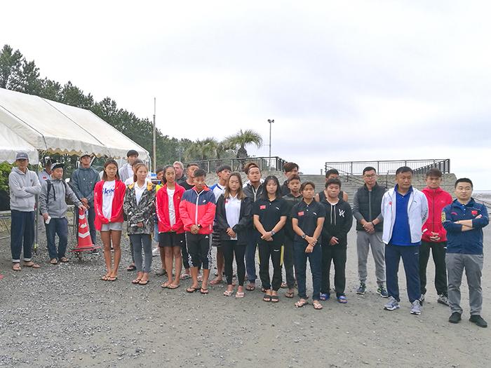 中国サーフィンナショナルチームのみんな