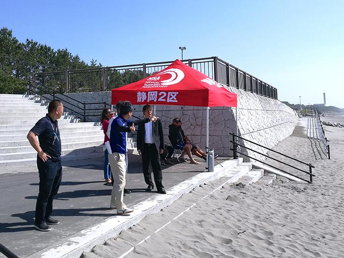 中国チームビーチ用テント