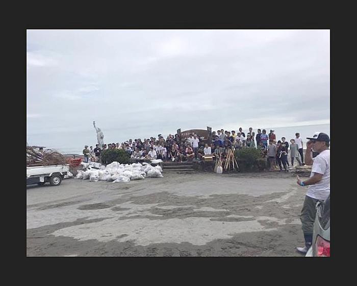 牧之原市とNSA静岡2区が中心となった静波ボランティア清掃