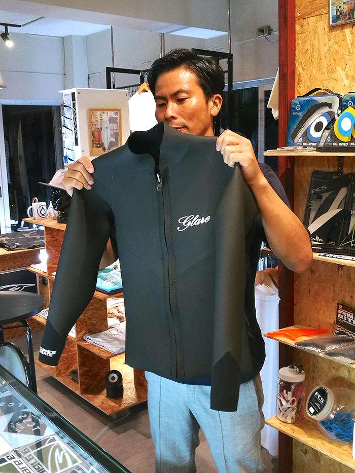 GLARE Surf Suits MasterモデルジャケットをオーダされたCさん
