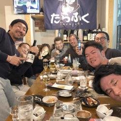 みんな日本酒にやられて酔っ払い(笑)
