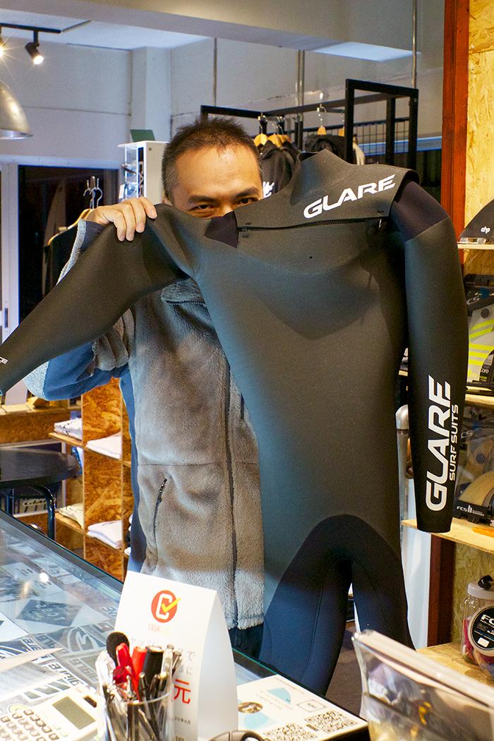 GLARE Surf Suits G5フルスーツをオーダーされたAさん