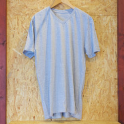WATERS Clothing Soft Cotton V-Neck TEE Grey
