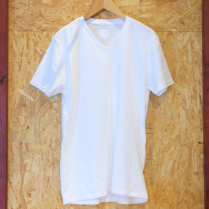 WATERS Clothing Soft Cotton V-Neck TEE White