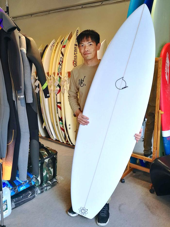 ATOM Surfboard Leaps'n BoundsモデルをオーダーされたAさん