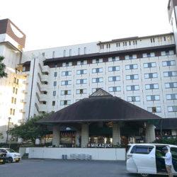 写真に全景はいりきらないくらい大きなホテル