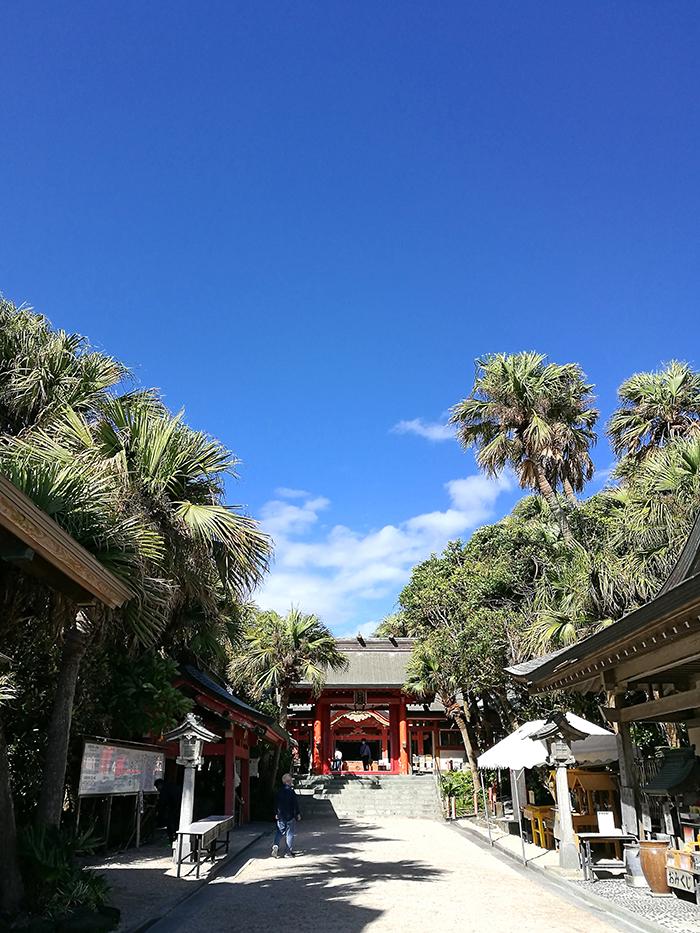 島には神社が。