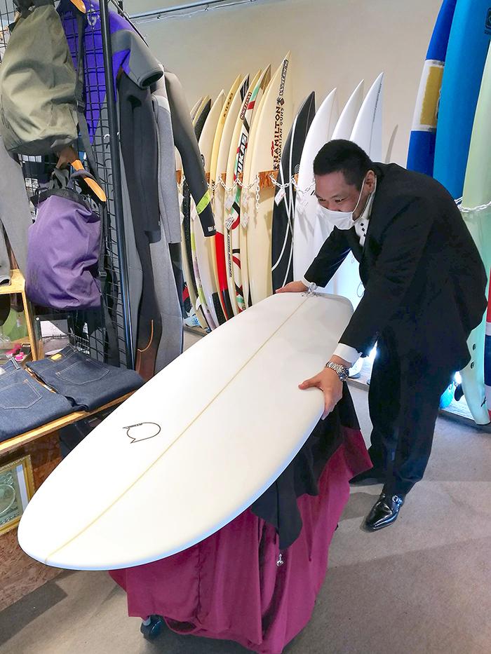 ATOM Surfboard anonymous modelをオーダーされたAさん