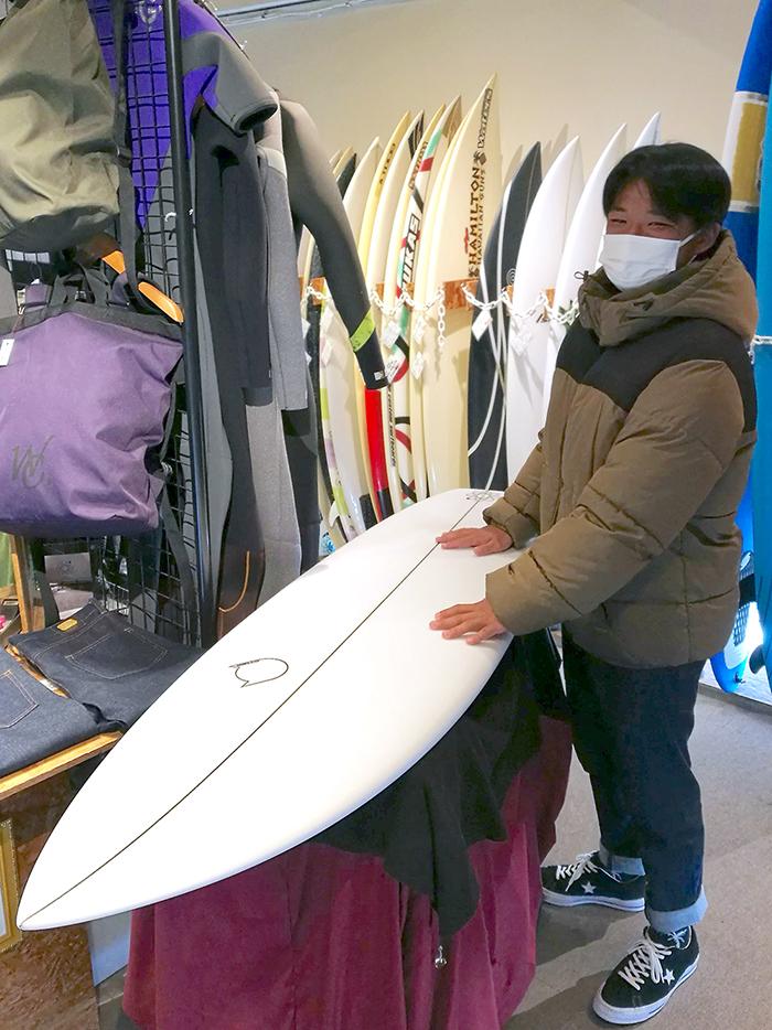 ATOM Surfboard Strider modelをオーダーされたCさん