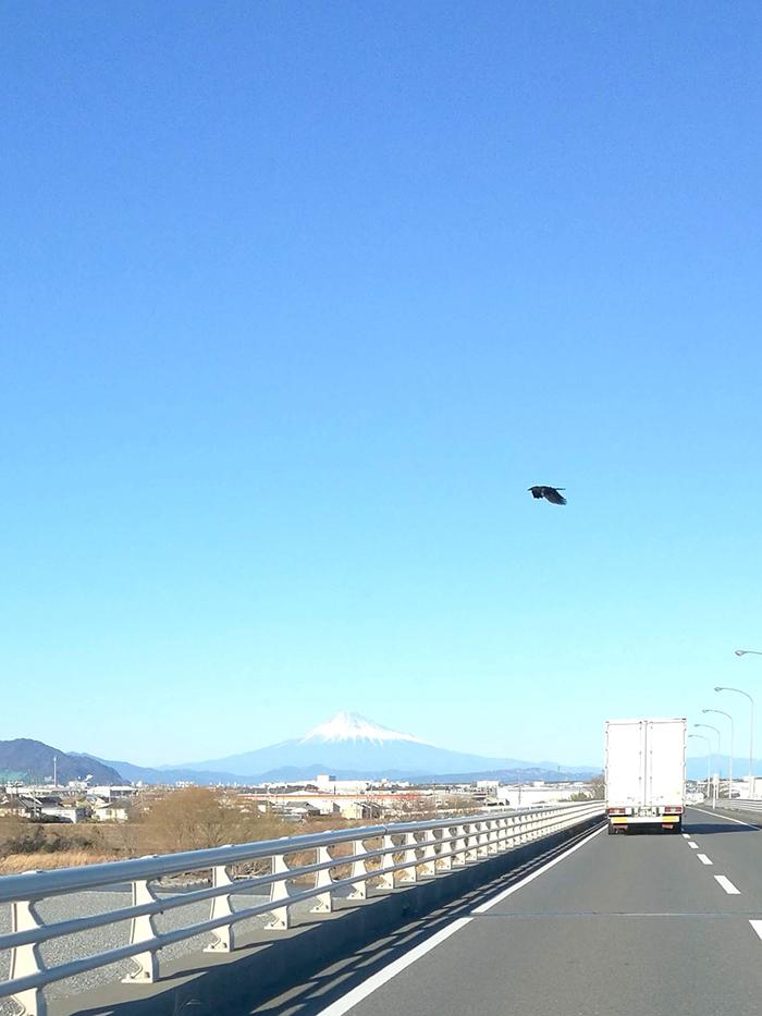いつもの冬の富士山