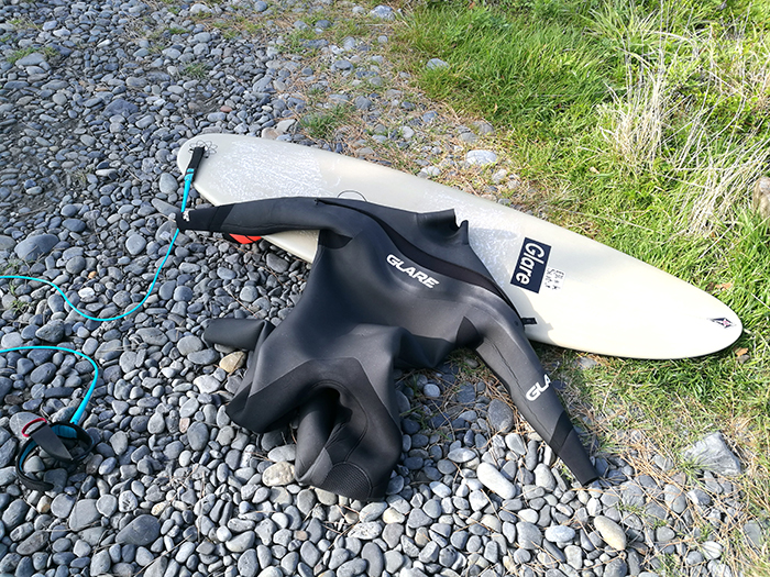 ATOM Surfboard dab mods. & GLARE Surf Suits Mover-S