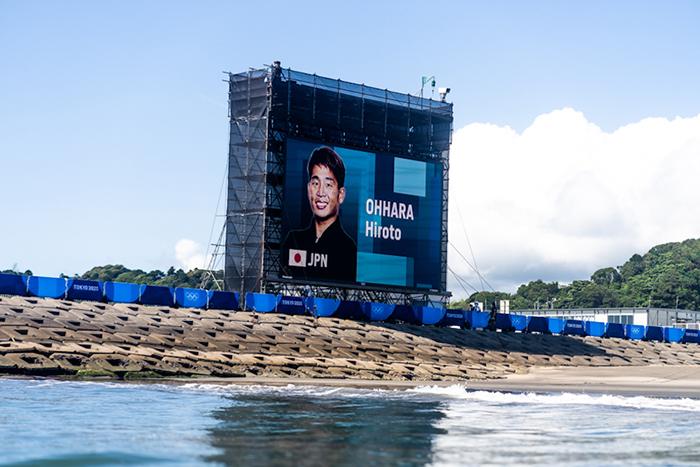 会場の千葉志田下には巨大スクリーンも設置!