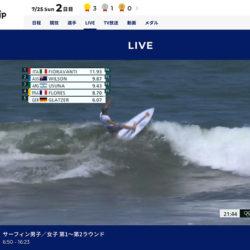 オリンピックサーフィンスタートしてます!