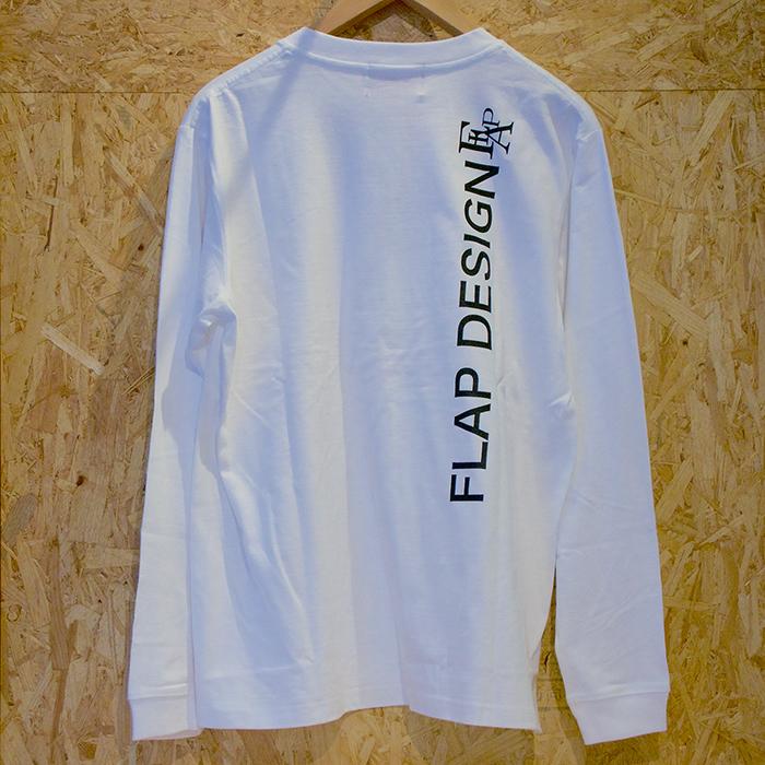 Flap Design FLT-FJ L/S TEE white back